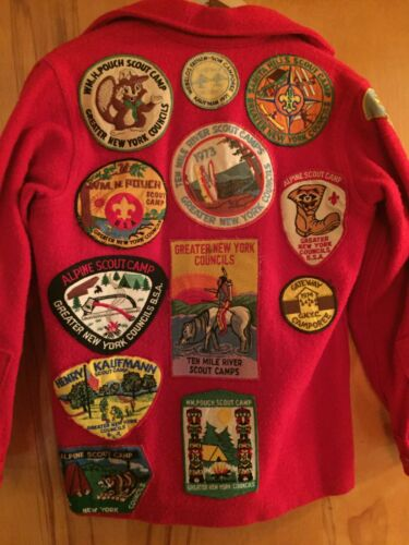 Boy Scouts of America (BSA) Red Wool Jacket, Size 14, Troop 261, NY, Vintage!