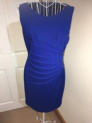 IVANKA TRUMP Blue Fitted Dress Size 8