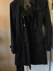 Burberry Brit mid length black trench US 6 UK 8