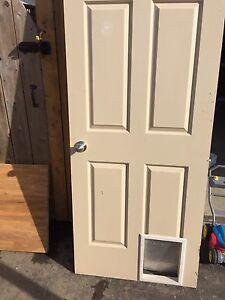 Pet door and door knob