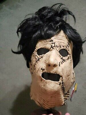 leatherface mask texas chainsaw rare tagged spencers frightstuff not don post