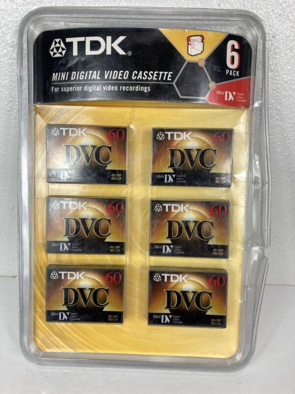 TDK Mini Digital Video Cassette DVC 6 Pack for SONY Handicam 60/SP 90/LP