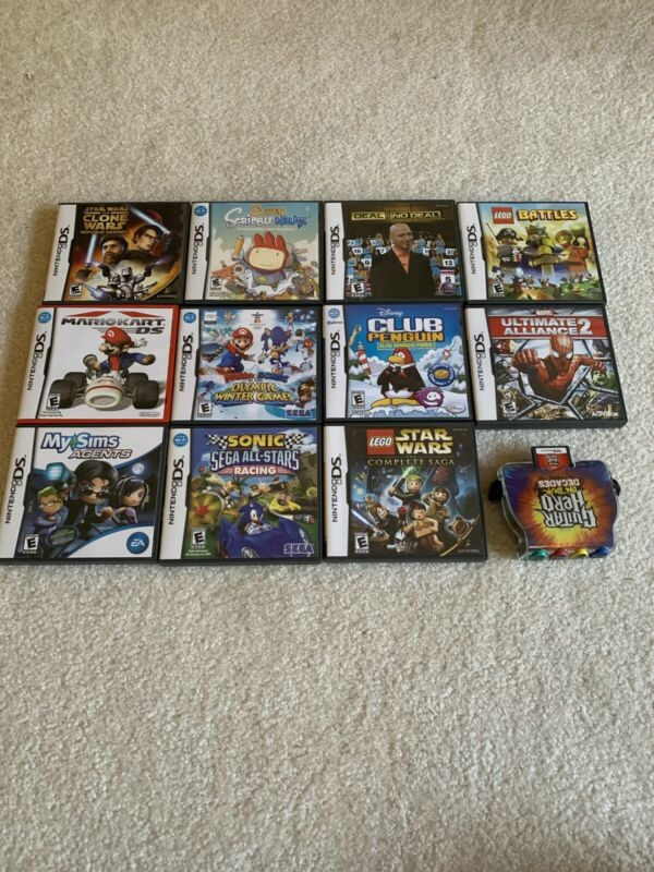 Nintendo DS Game Lot (Mario, Star Wars, Marvel, Lego)