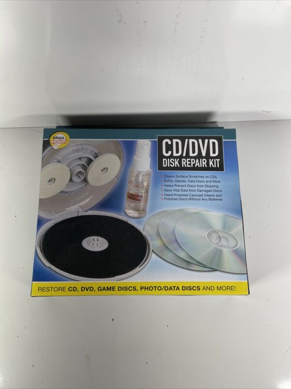 CD DVD Disc Repair Kit NEW In Box - Ideas In Motion