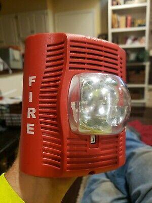 System Sensor Spsr Wall Mount Red Speaker Strobe Fire Alarm.