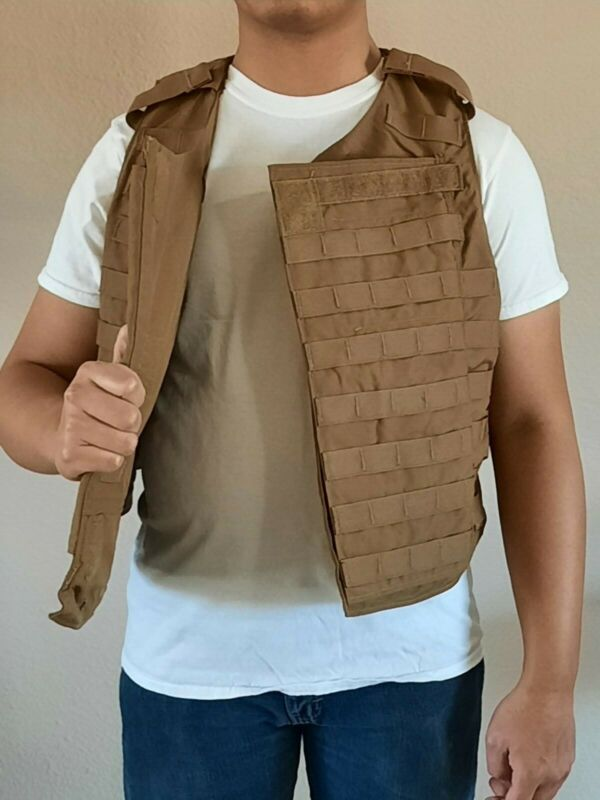 New without tag Armor Plate Carrier Vest Coyote Brown. Vest only.