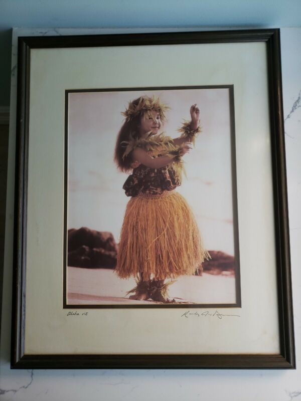 "SALE SIGNED Randy Jay Braun 17 x 21 framed Hawaiian Art Photography ""Nohea"""