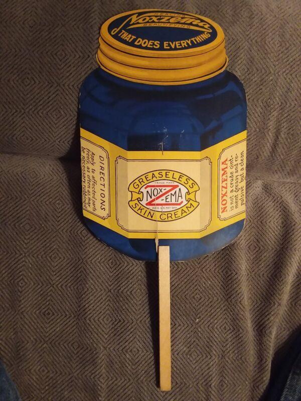 Vintage NOXZEMA Advertising Hand Fan