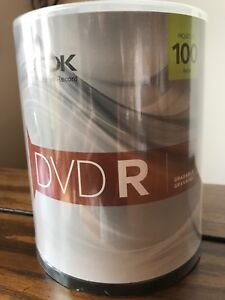 TDK 100 Pack DVD-R Recordable 4.7GB 16x New