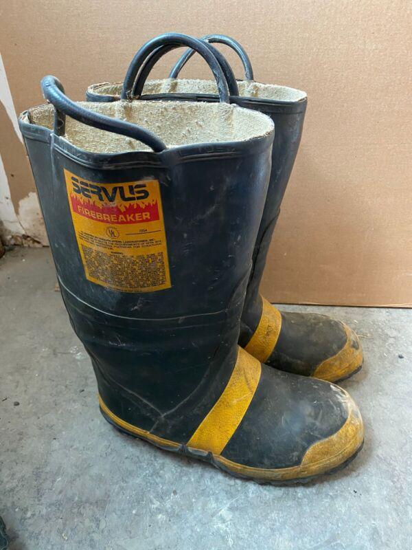 Vintage Servus Firefighter Firebreaker Boots Size 10M 11W Wide Steel Toe