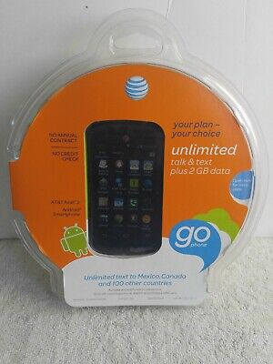 New AT&T Avail 2 Prepaid Android Mobile Cell Phone