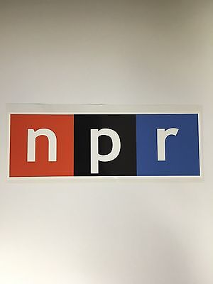 Set Of 2 National Public Radio Npr Bumper Sticker Decal  Laptop Phone 3 X1