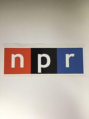 Set Of 2 National Public Radio Npr Bumper Sticker Decal  Laptop Phone 3 X1