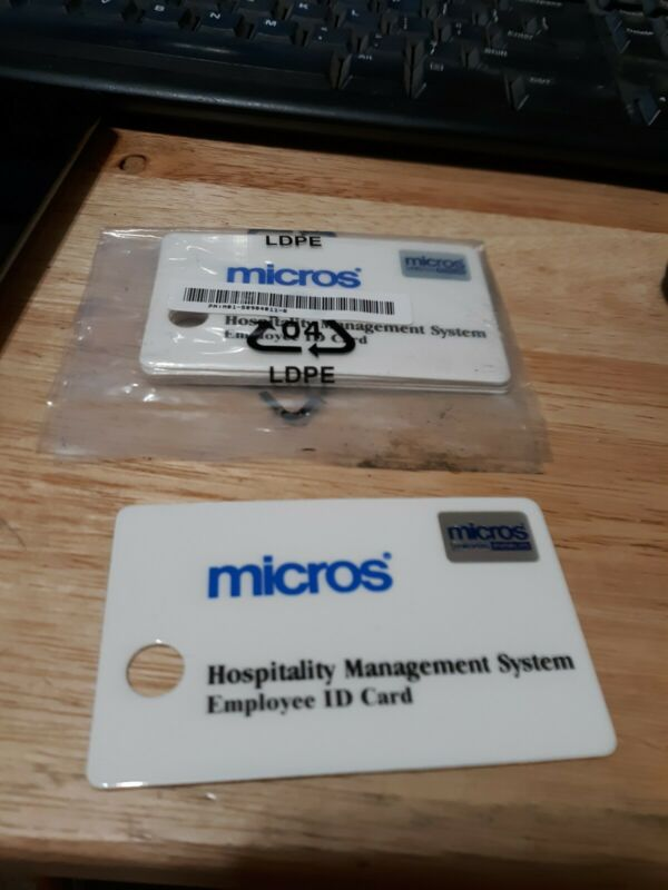 5 Pack of Micros Manager or Server ID Cards