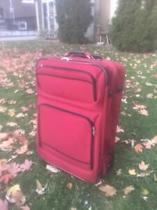 """LARGE rolling suitcase/luggage, 28"""" high"""