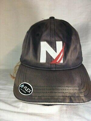 Nautica Spell Out N Logo Dad Baseball Hat Cap VTG 90s Navy Sailing