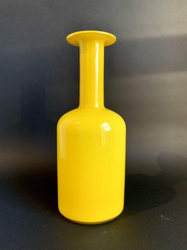 """HOLMEGAARD Gulvase 12"""" Yellow Cased Glass"""