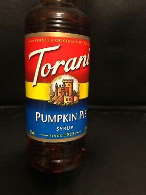 TORANI PUMPKIN PIE COFFEE SYRUP 12.7 FL. OZ. WITH SUGAR  BEST BUY
