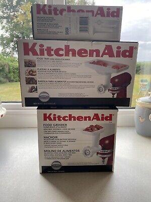 KitchenAid Artisan Food Grinder, Food Tray & Sausage Stuffer Attachments -unused