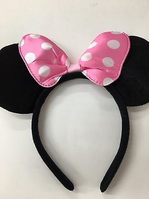 Minny Mouse Ears (Minnie Mouse Ears - Pink Bow Minnie Ears / Headband / Disney Party / Disney)