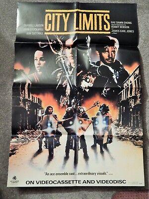 CITY LIMITS (VIDEO DEALER 36 X 24 POSTER!, 1980S) RAE DAWN CHONG, KIM CATTRALL