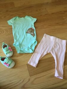 3 outfits size 0-3 months girls 8 pieces