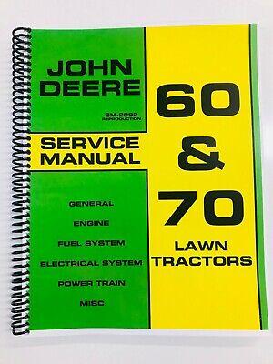 Service Manual For John Deere 60 70 Lawn Tractor Repair Manual
