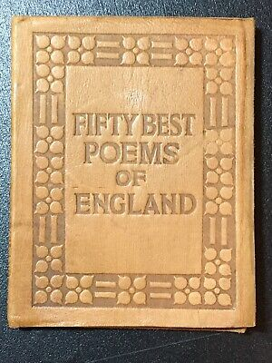 Little Leather Library FIFTY BEST POEMS OF ENGLAND   Pre-WWI Real Leather