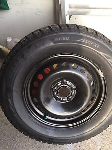 BRIDGESTONE BLIZZAK WS80 WINTER SNOW TIRES ON RIMS