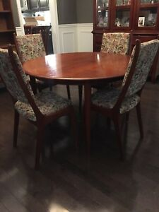 MCM- Teak dining set with 4 chairs