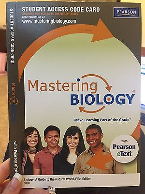 Masteringbiology With Pearson Etext    Standalone Access Card    For Biology
