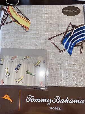 Brand New Tommy Bahama Home Beach Chairs Valance, 72 x 15 Top Treatment