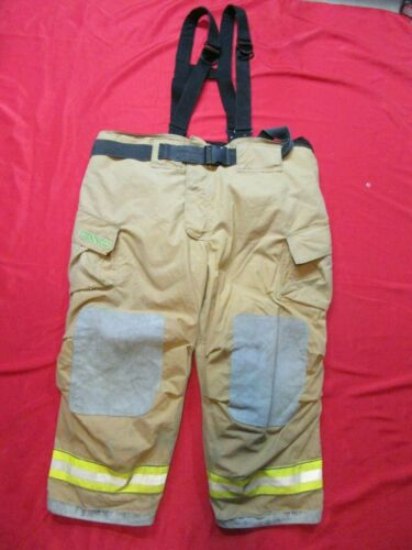 56 x 28 Cairns REAXTION Firefighter Pants W Suspenders Bunker Turnout Fire Gear