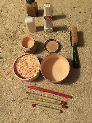 Vintage Makeup  Peter Vest Dstributer  Face Powder Steins Spirit Gum Max Factor