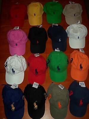 - POLO RALPH LAUREN BASEBALL HATS PONY ONE SIZE ADJUSTABLE STRAP  ASSORTED NWT!!