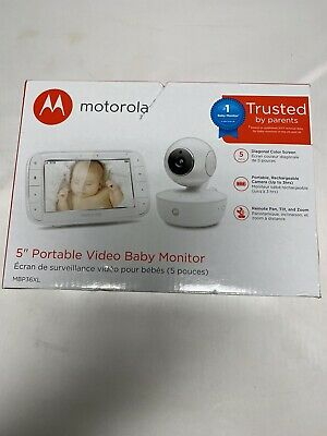 New Motorola MBP36XL Portable Video Baby Monitor - White