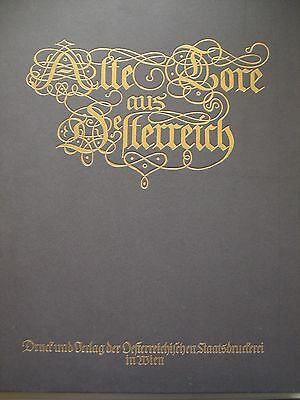 Alte Tore aus Österreich 1926 Holzstiche Heidentor Wienertor Hauptportal Portal
