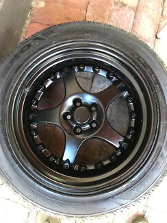 17inch ROH ALLLOYS painted satin black