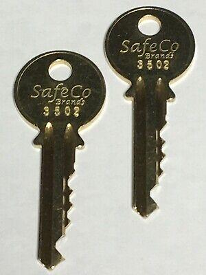 2-Yale 3502 Elevator Keys for Fire Service 2-Keys SafeCo -