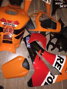 2008 to 2011 cbr 1000 fairings repsol edition mint