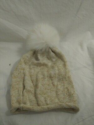 Catya Winter Collection Real Fur Pompom Winter Glitter Hat