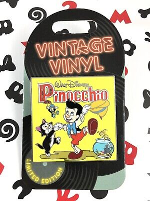 Disney Pin 2019 Vintage Vinyl Pinocchio Record Pin of the Month LE 3000