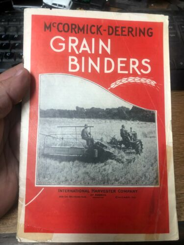 OLD VINTAGE McCormick Deering Grain Binders color sales catalog RW