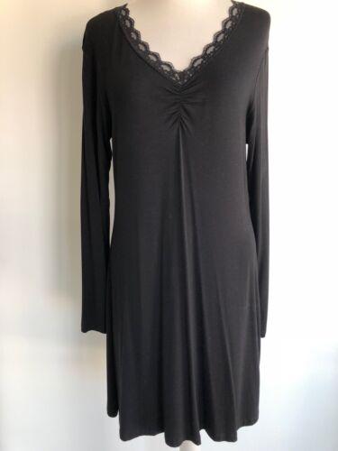 Darling Harbour Viskose Kleid mit Spitzebesatz Gr.M / L ...