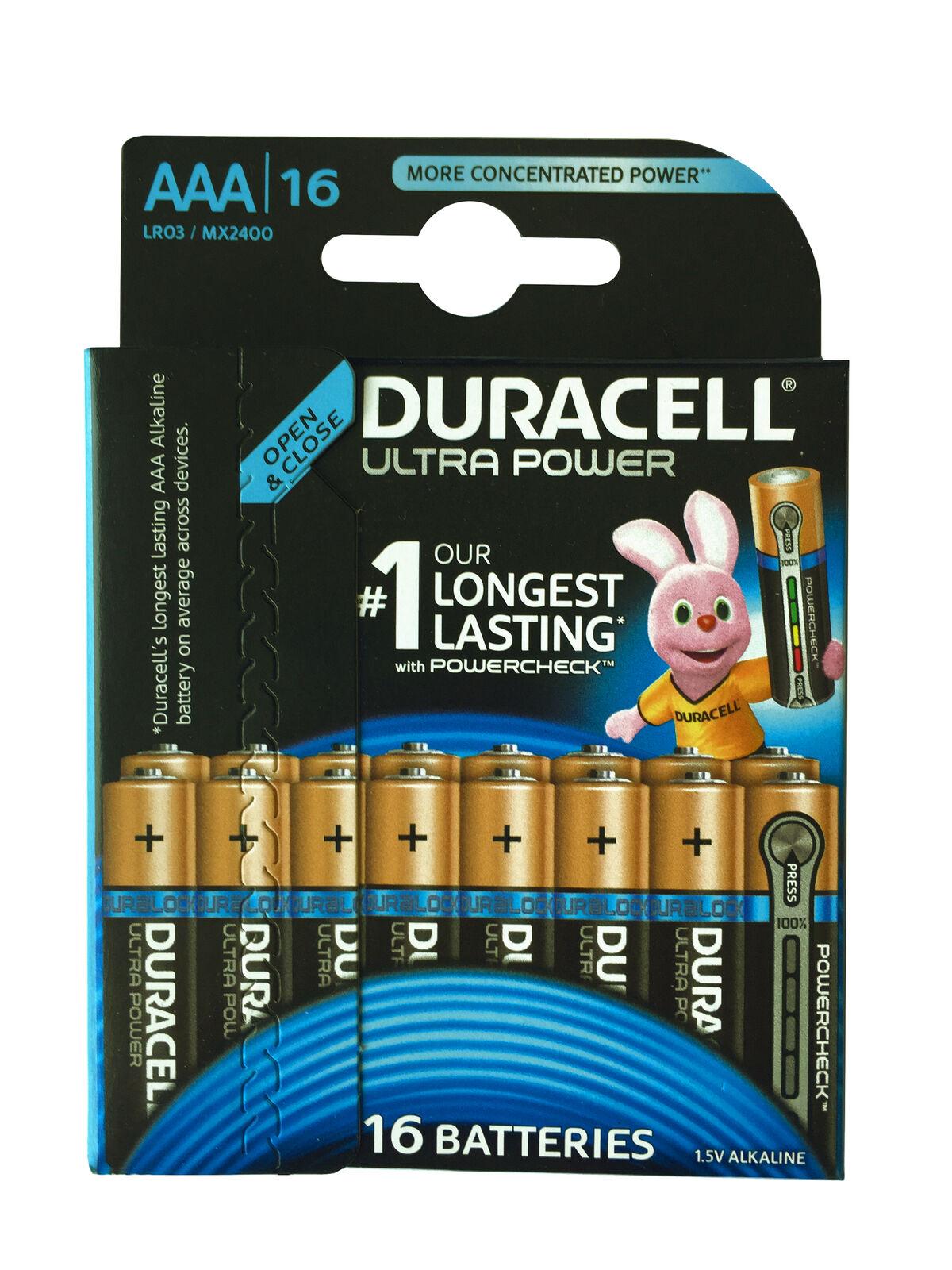 Duracell 16er Blister Ultra Power AAA Micro Batterien 1.5 V Alkaline MX2400