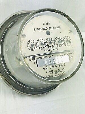 Sangamo Watt Hour Electric Meter Rr 27 79 Fm2s 60hz 328700 4 Power Usage 240v