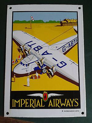 Emailschilder: Imperial Airways,Beetle,Norton