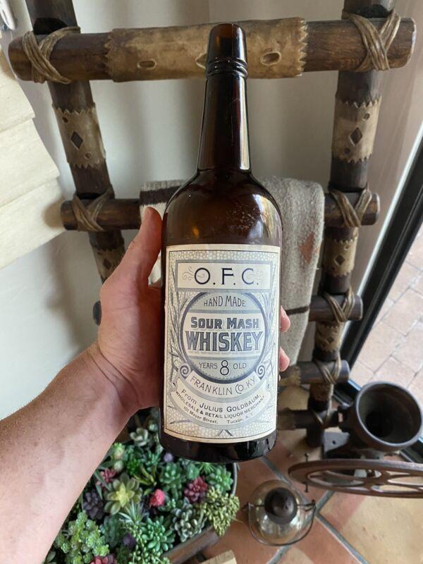 1890 Pre-Prohibition Julius Goldbaum Tucson Arizona Whiskey OFC Buffalo Trace