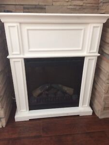 Electric fire place with mantle