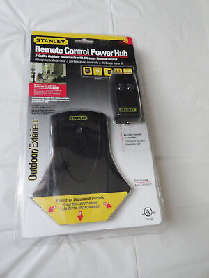 STANLEY Remote Control Power Hub Grounded 3 Outlet Doors NEW IN PACKAGE (Stanley Remote)